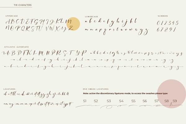 Qene-G Signature Script Font Letters