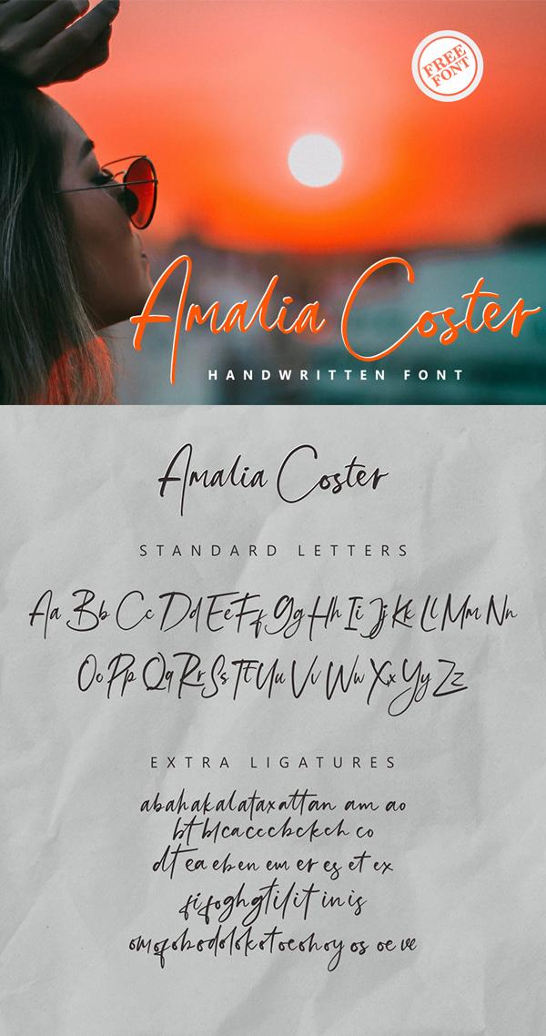 Amalia Coster Handwritten Free Font