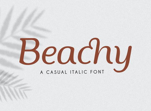 Beachy Display Summer Font
