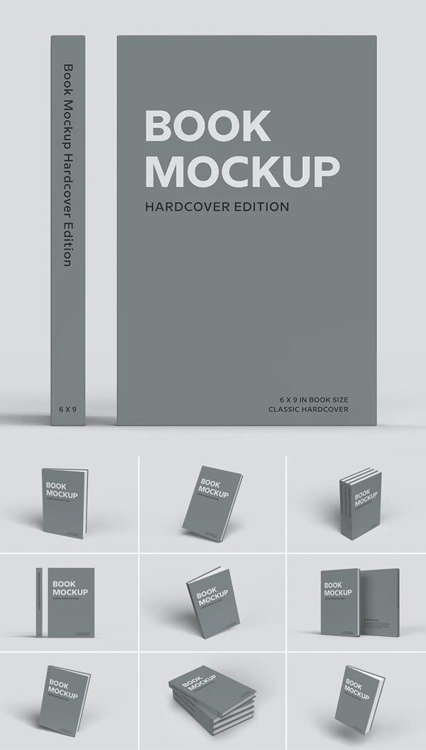 Attractive Hardcover Book Mockup