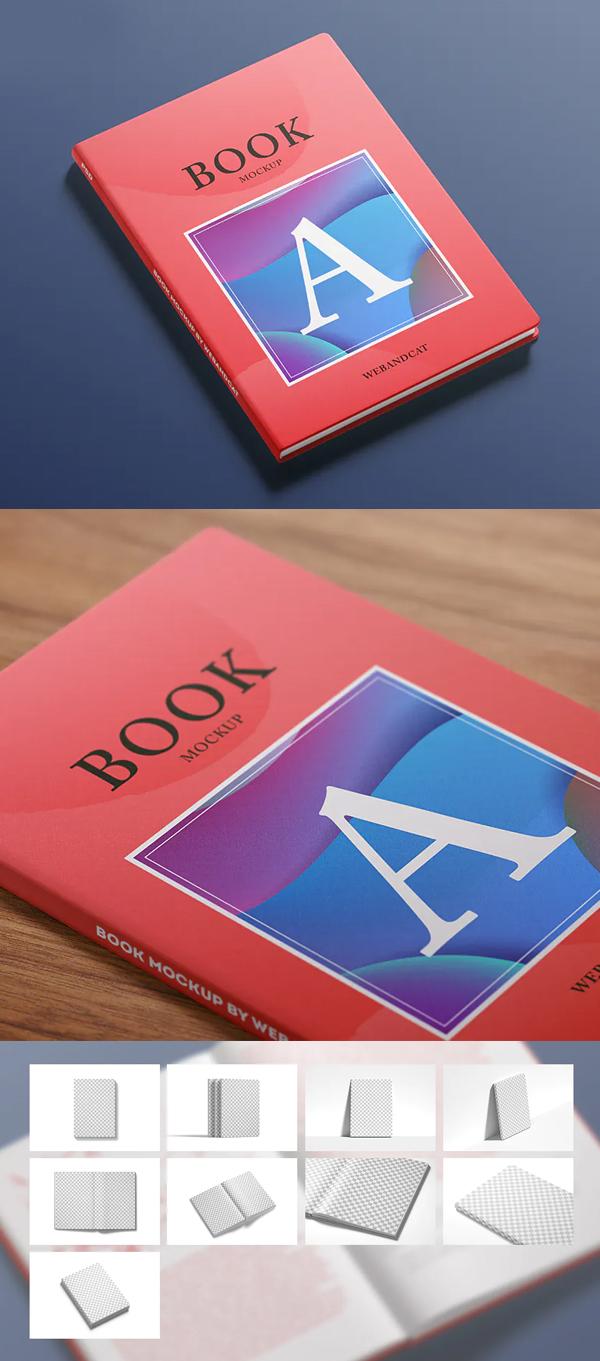 Awesome Creative Book Mockup Set