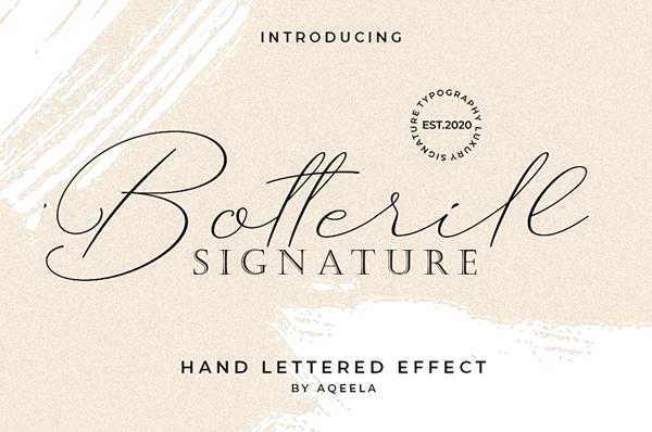 Botterill Signature Free Script Font