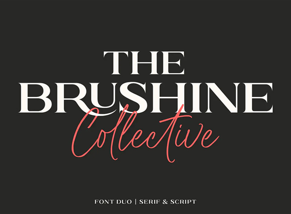 Brushine Collective Font Duo