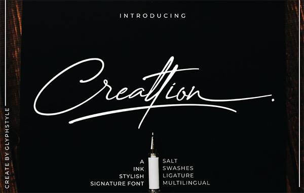 Creattion Signature Free Script Font