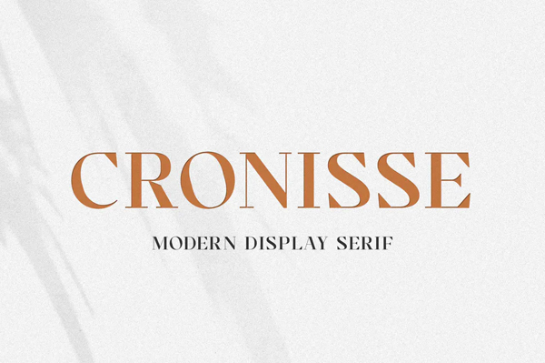 Cronisse Modern Display Serif Font