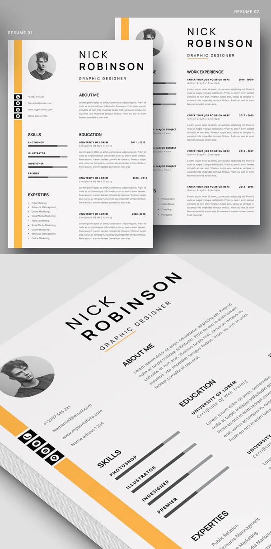 Clean Resume CV Resume Font