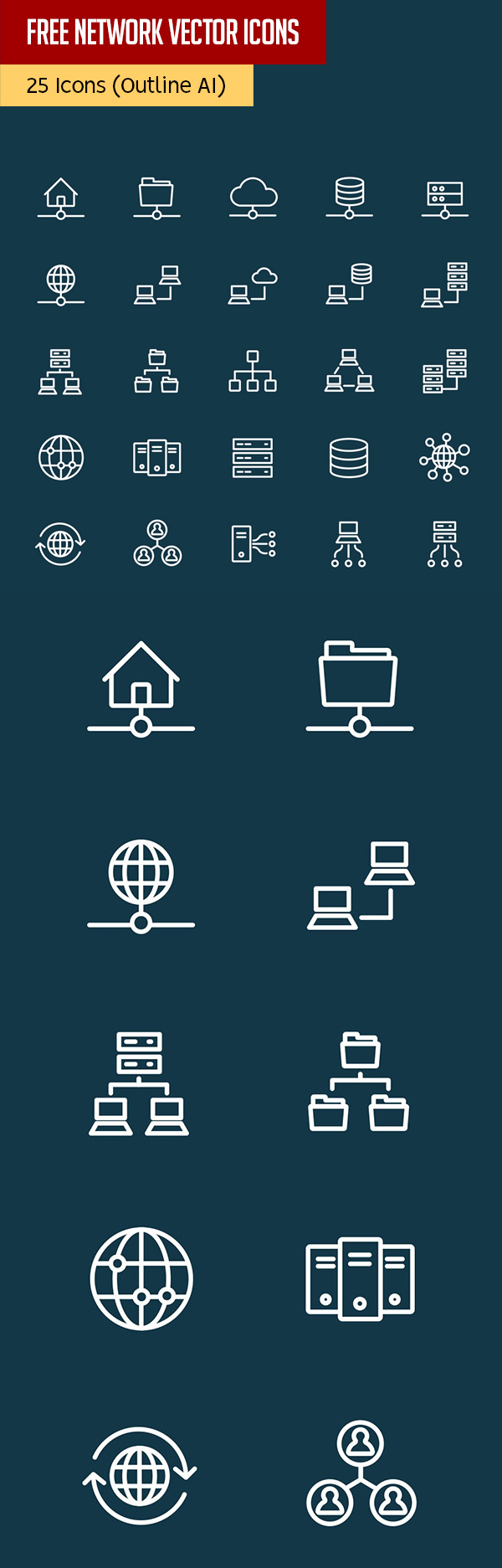 Free Vector Network Icons