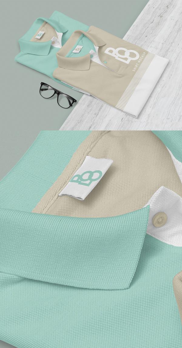 Free Stylish Polo Shirt Mockup PSD