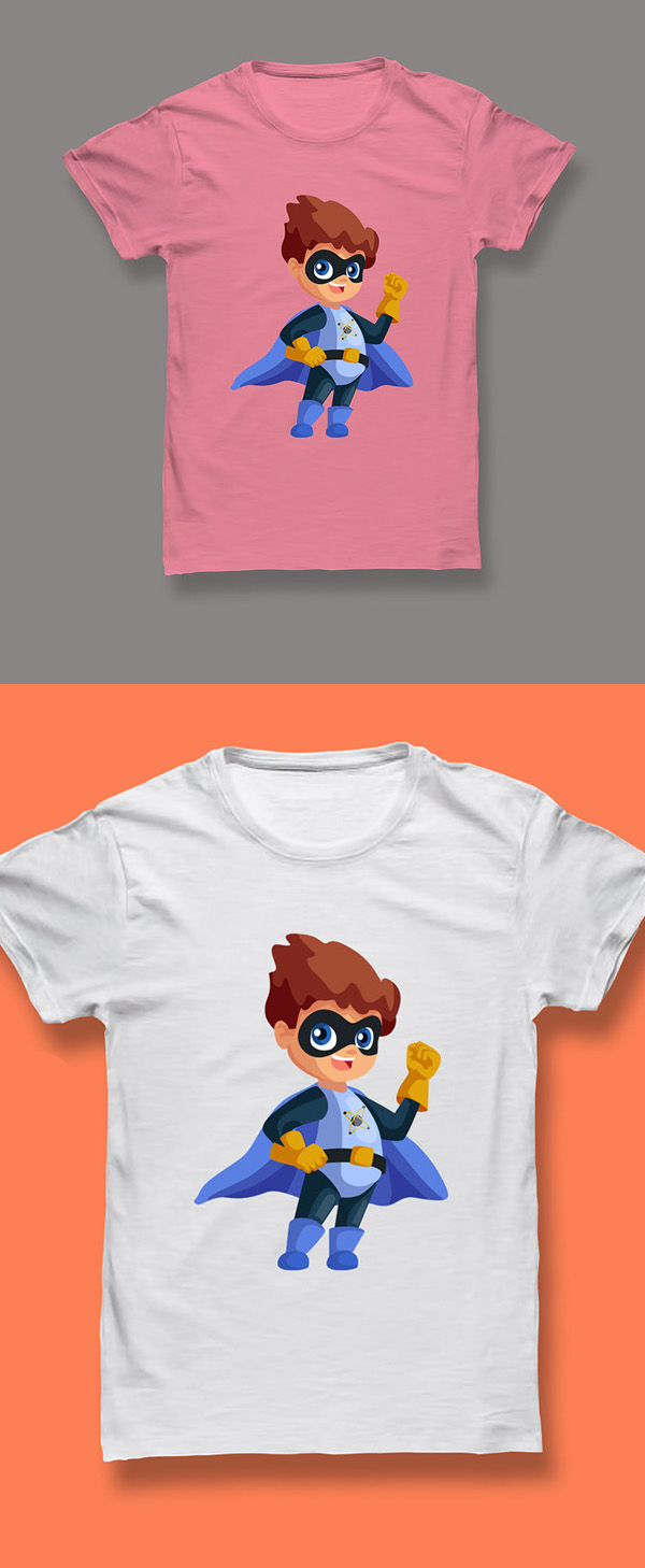 Free Kids T-shirt Mockup