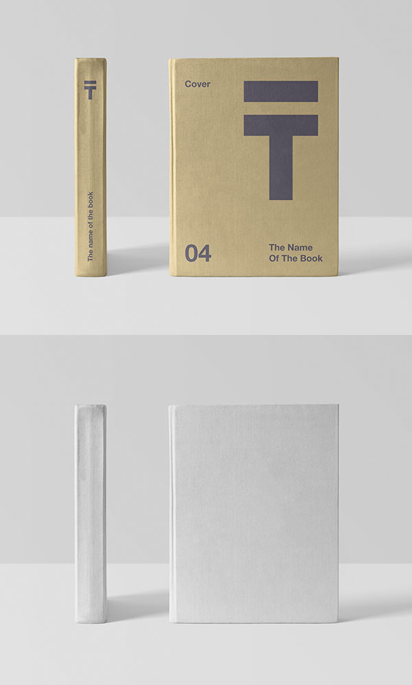 Free Realistic Book Cover Mockup Free Font