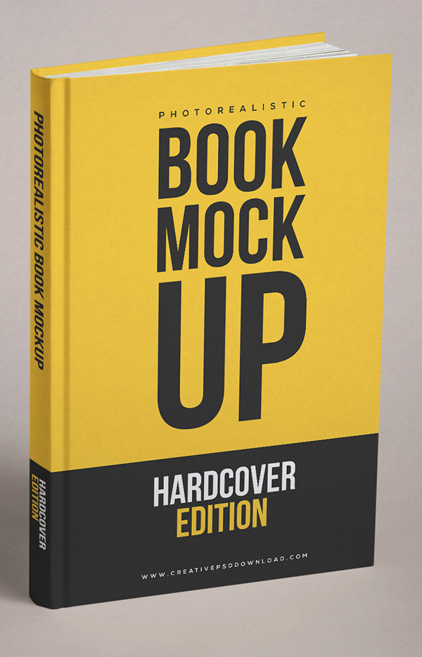 Free Realistic Book Cover Free PSD Mockup Free Font