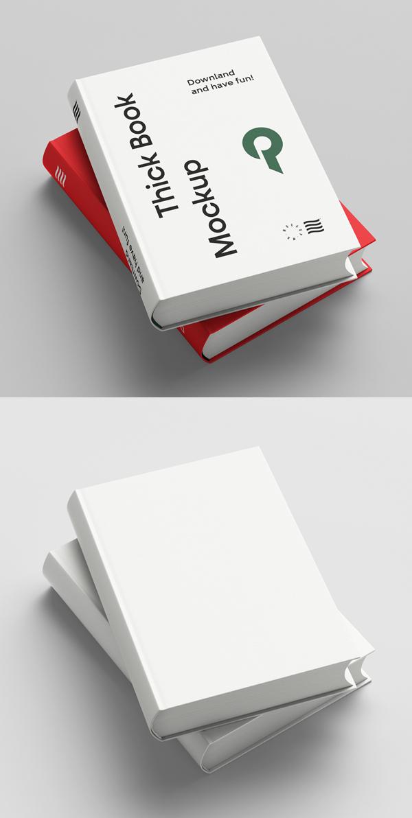 Free Thick Book Mockup Free Font