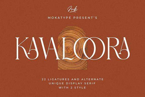 Kavaloora Stylish Font