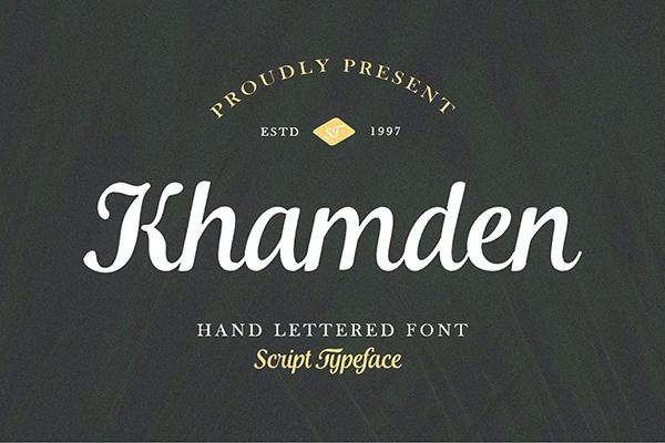 Khamden Script Font
