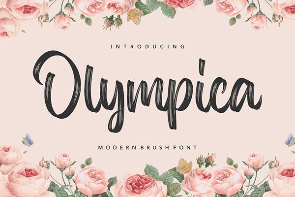 Olympica Brush Font