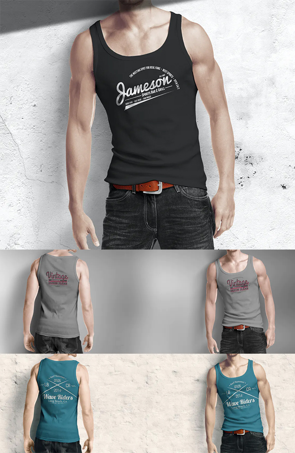 Man Tank Shirt Mockup