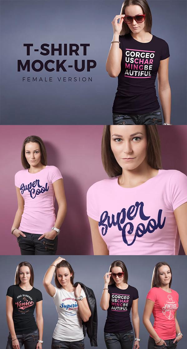 Perfect Female T-shirt Mockup