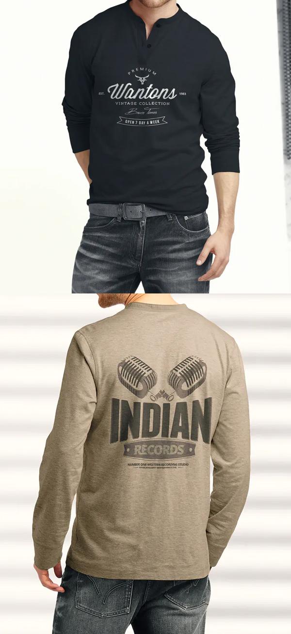 Man Longsleeve Shirt Mockup