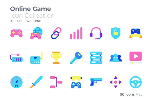 Online Game Color Icon