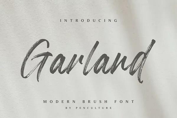 Garland - Modern Brush Font