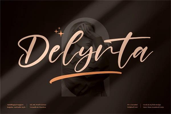 Delynta Beautiful Handwritten Font