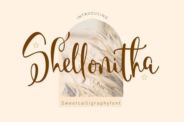 Shellonitha Calligraphy Script Font