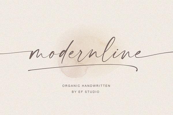 Modernline Handwritten Script Font