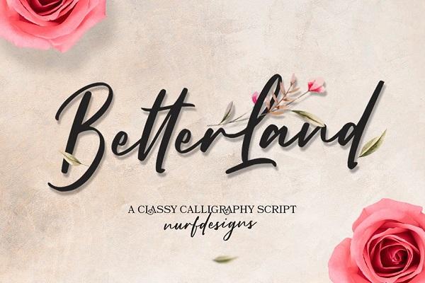 Better Land – Handwritten Font
