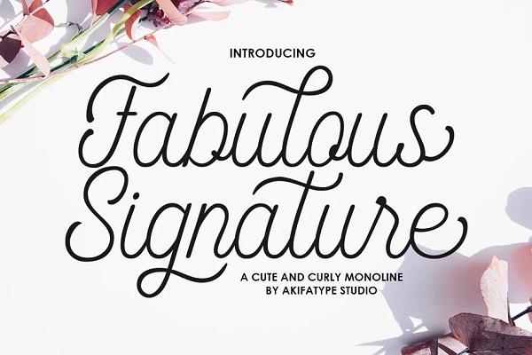 Fabulous Signature Font