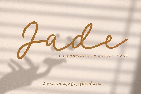 Jade Handwritten Script Font