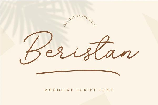 Beristan Script Font