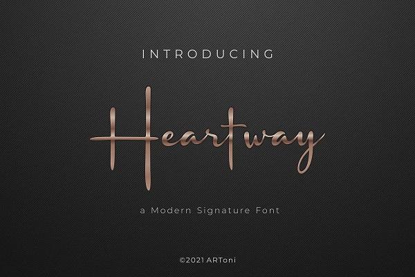 Heartway Signature Font