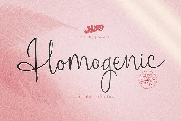 Homogenic - Script Font