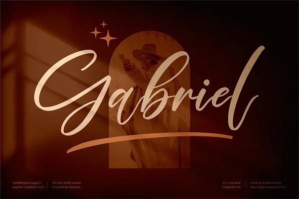Gabriel Beautiful Script Font
