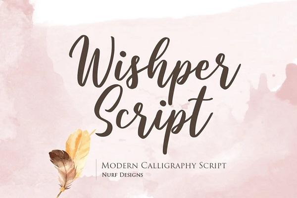 Wishper Script – Modern Calligraphy