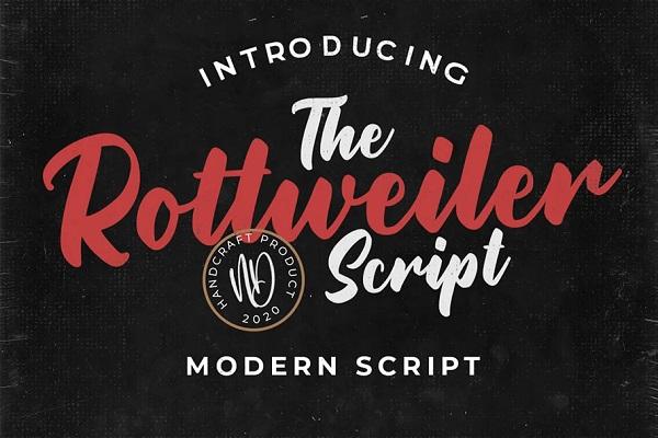 Rottweiler – Modern Script Font