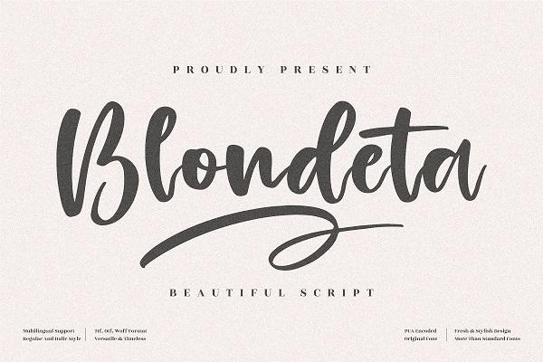 Blondeta Beautiful Script Font
