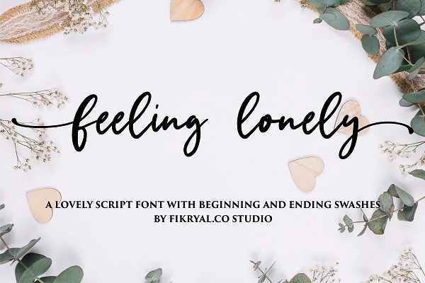 Feeling Lonely - Lovely Script Font