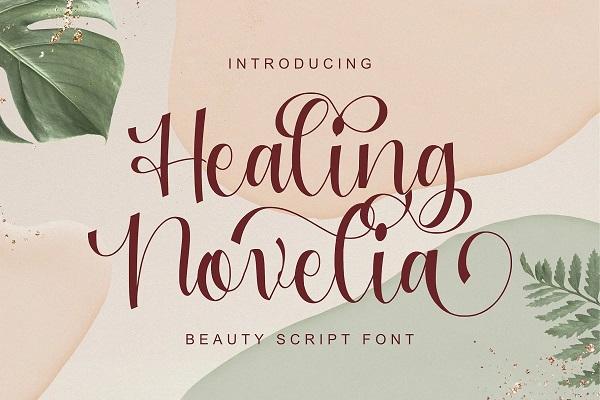 Healing Novelia - Handlettering Font