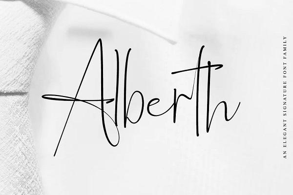 Alberth - Elegant Signature Script