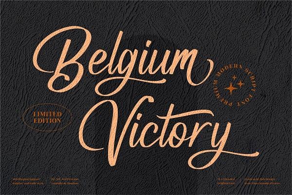 Belgium Victory Modern Script Font