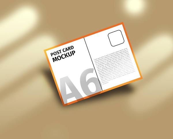 Free Download post card mockup (PSD)