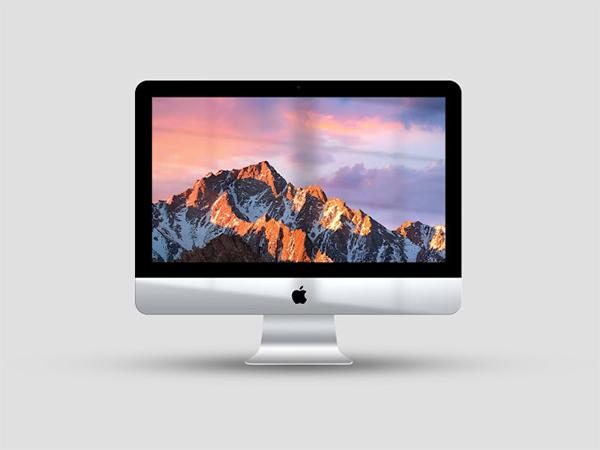 Free download iMac window shine mockup (PSD)