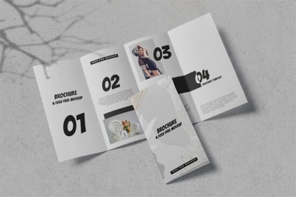 Fold Brochure Free Mockup