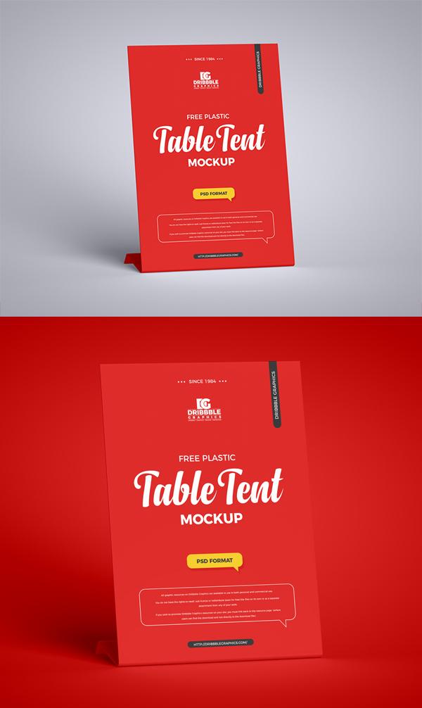 Free Table Tent Mockup