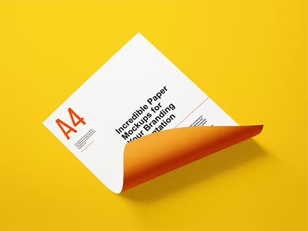 Free Paper Letter Mockup