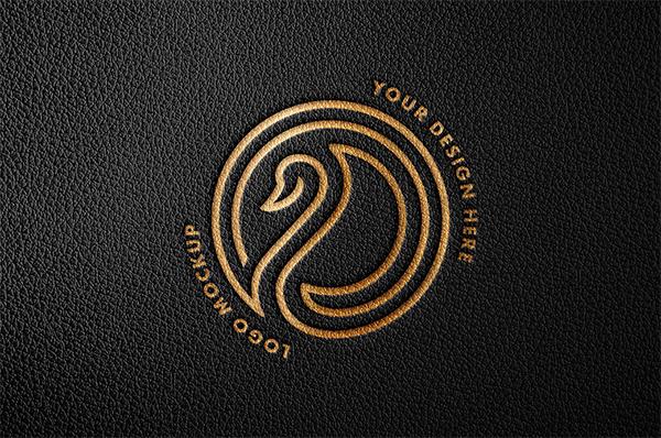 Debossed Foil Logo Mockup