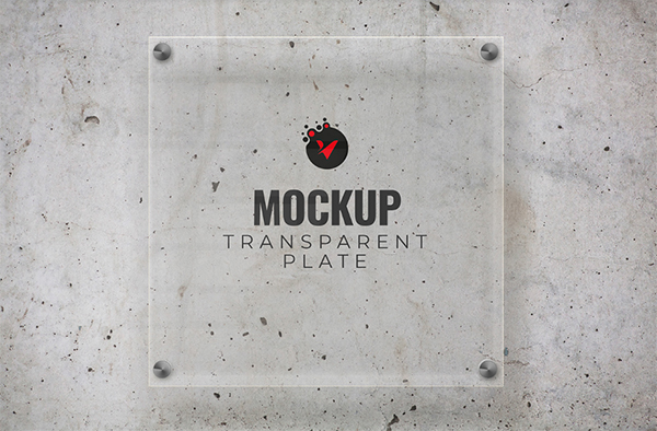 Mockup Transparent Plate