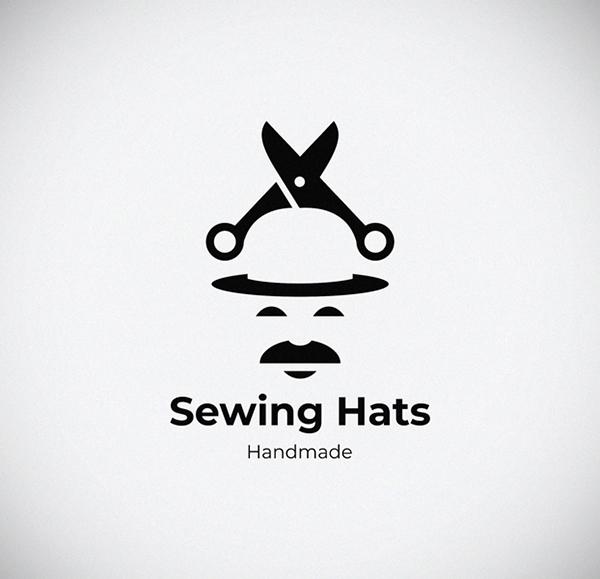 Sewing Hats Logo Design