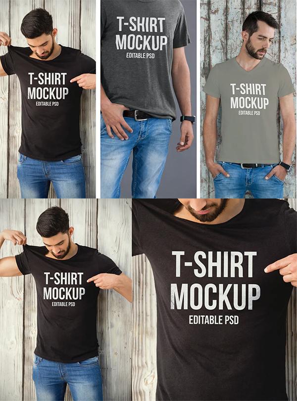 T-shirt Mockup Set